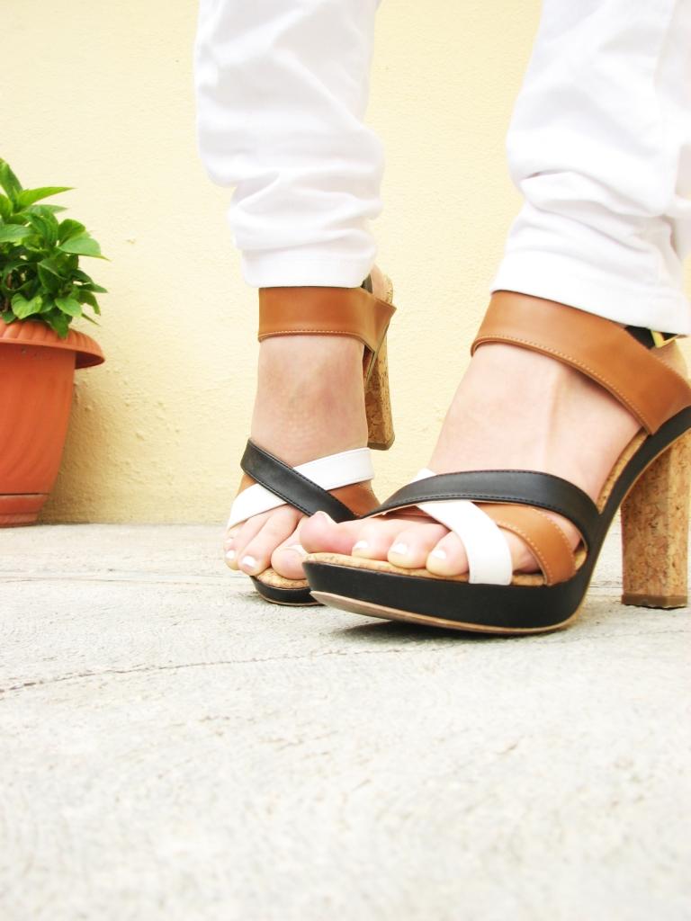 Zapatos contraste