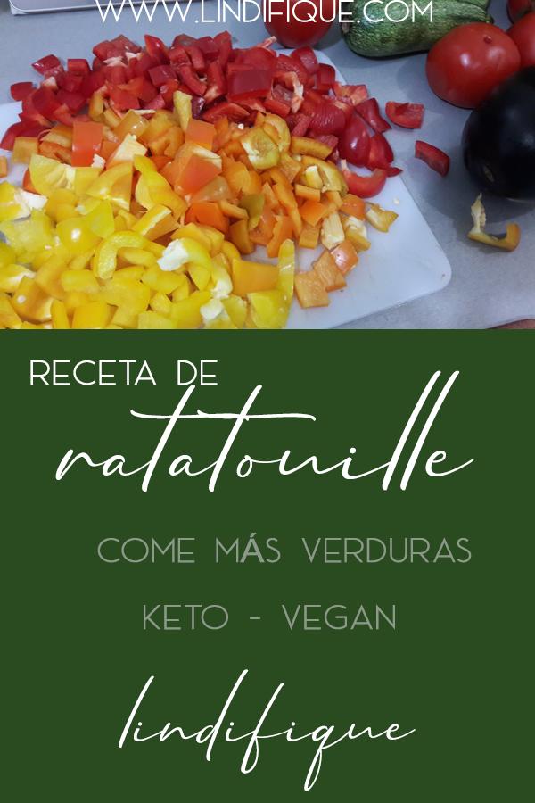 Guarda esta receta de ratatouille, come más verduras, prepara esta fácil receta keto y vegana y congela. - Lindifique